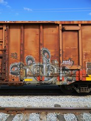 Cable (Sk8hamburger) Tags: railroad art train painting graffiti paint tag rr cable boxcar graff piece tagging freight paint spray