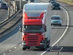 PX08 EXZ (Cammies Transport Photography) Tags: truck edinburgh lorry newbridge flyover scania unmarked r420 px08exz