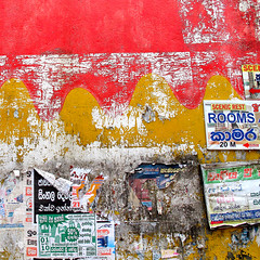 Abstract wall and peeling posters (Sallyrango) Tags: abstract srilanka peelingpaint peelingposters abstractsquare