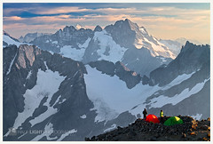 4652. (koaflashboy) Tags: evening katie tent northcascades ptarmigantraverse northcascadesnationalpark cachecol sahalepeak 55250 mountformidable sahaleglaciercamp canon7d