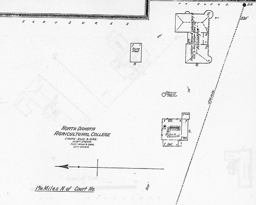 North Dakota Argricultural College (North Dakota State University) campus map, 1896