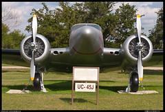 UC-45J Expeditor (evansaviography) Tags: usa texas preserved usaf c45 lackland unitedstatesairforce expeditor uc45j