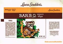 Laura Scudder's Chips - Koala - 1970s (Waffle Whiffer) Tags: animal bag wildlife chips koala 1975 1970s potatochips barbq pak laurascudders petincorporated leeolsson