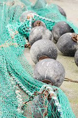 Fishing nets 2 (Marissen) Tags: green net industry denmark fishing industrial rope commercial fisher floats habour fishingnets
