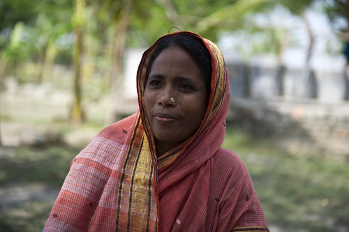 A member of ponds and women fisheries group in Labukhali, Bangladesh. Photo by Finn Thilsted, 2012.