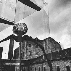Alien Invasion (red_dotdesign) Tags: city urban bw toronto square distillerydistrict