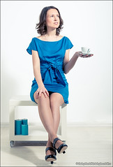 Beautiful brunette with cup of coffee (Dmitry Mordolff) Tags: people woman white cup coffee beautiful fashion comfortable female person one model glamour women sitting break looking image tea interior room young drinking indoors human drinks casual brunette cheerful relaxation adults enjoyment 20s caucasian lifestyles