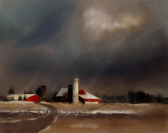 Farm Scene Landscape (Deborah.Lee) Tags: landscape farm digitalart corelpainter painter12