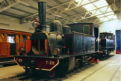 North-eastern Greece Railways metre gauge Couillet 0-6-0T No. -211 (b.1890) in Athens Railway Museum on 17 April 2013 (A Scotson) Tags: trains steam greece locomotive railways narrowgauge 060t metregauge railwaymuseumofathens