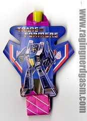 1980's Transfomers Party Favor (Raging Nerdgasm) Tags: party tom 1980s favor raging rng transfomers nerdgasm khayos