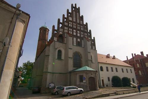 Fasada dawnego kościoła Wniebowzięcia NMP w Jaworze