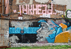 Graffiti In Lower Manhattan. Inkhead and Under The Influence (Allan Ludwig) Tags: graffiti lowermanhattan undertheinfluence inkhead