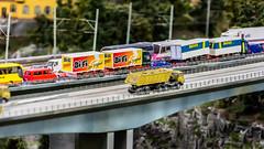 Traffic jam on the highway (*Capture the Moment*) Tags: bridge hamburg vans brcke stau trafficjam miniaturwunderland lastwagen 2016 miniaturwelt sonynex7 sonye18200mmoss littlewonderworld