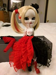 Harley Dress version is actually quite lovely. (Kyubi09) Tags: harley quinn pullip doll groove clown elegant gown