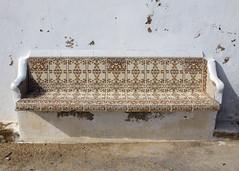 Bench (Hans van der Boom) Tags: europe portugal algarve vacation holiday albufeira seating empty bench tiles azulejos pt