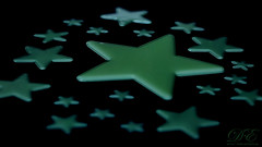 Glowing Wonder Stars (debahi) Tags: dark glow star macromondays stars macro green light bedroom kid toy home decoration house