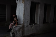 On The Edge Of Darkness (joshhansenmillenium) Tags: models photography nikon d5500 photoshoot modelling covington kentucky abandoned bokeh contrast