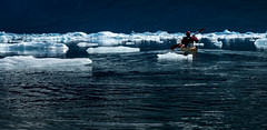 Trying not to get stuck (Frank Busch) Tags: frankbuschphotography imagebyfrankbusch photobyfrankbusch glacier greenland ice john kayaking kayaks ocean southgreenland wwwfrankbuschname