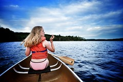 Wifi/LTE is everywhere these days (DHaug) Tags: wilderness ontario prime xpro2 xf16mmf14 fujifilm daughter water windswept canoeing algonquinpark