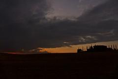 Sunset in Tuscany (Antonio Cinotti ) Tags: landscape paesaggio toscana tuscany italy italia siena hills colline campagnatoscana cretesenesi asciano sunset tramonto clouds nuvole leica leicadlux6 cypress scurcoli cipressi