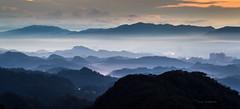 Morning mist (canon-Tom) Tags: landscape sun sky clouds mountains mountain exposure fog mist taipei asia taiwan canon sunrise morning nature travel matur tree outside