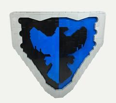 Falcon Shield (Tilde Brick) Tags: lego medieval shield moc brickfair blue black white grey