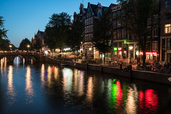 Amsterdam Feels Good (McQuaide Photography) Tags: amsterdam noordholland northholland netherlands nederland holland dutch europe sony a7rii ilce7rm2 alpha mirrorless 1635mm sonyzeiss zeiss variotessar fullframe mcquaidephotography adobe photoshop lightroom tripod manfrotto light licht night dusk twilight bluehour longexposure stad city capitalcity urban lowlight architecture outdoor outside old oud gracht grachtenpand canalhouse house huis huizen traditional authentic water reflection centrum gebouw building waterfront waterside canal colour colours color redlight redlightdistrict windows coffeeshop feelsgood tourism touristattraction travel oudezijdsvoorburgwal rld ozvoorburgwal