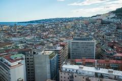 Naples - Rooftop View to Bay of Naples (Le Monde1) Tags: italy naples napoli lemonde1 nikon d610 amalficoast city greek roman angevin vomero hill prison charlesv rooftop castelsantelmo bayofnaples