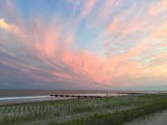 Sky Wind (chantsign) Tags: wind pink sunset beach water ocean wideangle dunes