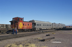 Brass on the Rear (joemcmillan118) Tags: santafe passengercars needles california superc businesscars caboose