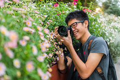 My Photographer Friend lol (hackdragon) Tags: people yong chin han asian byo chinese boy maybe korean handsome glasses sony a6000 rx1r ii gardens by bay singapore
