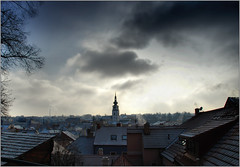 Our city in the cold and smog (piontrhouseselski) Tags: cz moravia trebic winter clouds frost