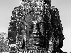 patrickrancoule-434 (Patrick RANCOULE) Tags: angkor angkorwat bouddha cambodge cambodia architecture bouddhisme noiretblanc sculptures temple visage