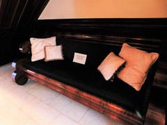 THE BENCH THAT'S UNDER THE STAIRS (Visual Images1) Tags: hbm benchmonday phelpsmansion binghamton newyork
