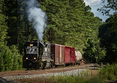 Smokes up! (WillJordanPhoto) Tags: trains track landscape highhood ns5129 ns5081 nsp17 nsp22 piedmont greenville southcarolina