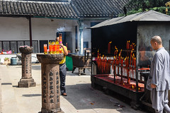 Burning incense (Frances CdeB) Tags: lingyan temple incense burning candles offerings rituals