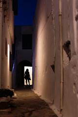 Πλάσματα της νύχτας (Jordi Cucurull) Tags: night nit noche calle carrer street contrallum contraluz figura figure persona person scary por miedo mujer woman dona 6d