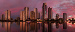 Surfers Paradise (beaugraph) Tags: city highrisebuildings surfersparadise goldcoast queensland australia cityscape panorama pano reflection sunset