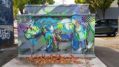 Cruel... (colourourcity) Tags: cruel cezarystulgis rhino streetart colourourcity