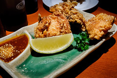 Chicken karaage (Victor Wong (sfe-co2)) Tags: angle asian bright chicken close cooked crispy cuisine deep deepfried delicious dish fast food fried gourmet homemade indoor japan japanese karaage lemon meal meat snack still life style