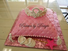 P1013749 (Pastries by Design) Tags: tiara cake carved princess shaped pillow quilted crown
