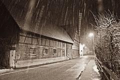Cats and Dogs (Djeff Costello) Tags: schnee winter blackandwhite snow rain evening abend hiver neige februar 2013 eislingen mygearandme