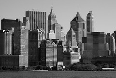 one million windows (Blende1.8) Tags: new york city bw white black tower skyline photography for blackwhite wasser gallery waterfront skyscrapers fenster 2006 sw recreation schwarzweiss weiss schwarz fassaden hochhuser weis schwarzweis vigilantphotographersunite bwgalleryphotographyforrecreation