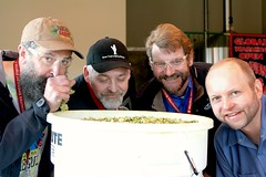 John from Rogue Ales, Ken & Patrick from North Coast Brewing Co. & Cam from Deschutes (deschutesbrewery) Tags: collaboration barleywine rogueales northcoastbrewingcompany deschutesbrewery classof88