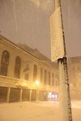 20130209 Blizzard Warning (Kangkerker) Tags: snow storm boston warning canon eos downtown crossing nemo 7d blizzard 1755mm
