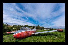 BAC Jet Provost in a field at Lulsgate (Travels with a dog and a Camera :)) Tags: uk blue trees england sky southwest west art abandoned field digital photoshop plane bristol dc view pentax unitedkingdom aircraft south jet july sigma bluesky 1020mm derelict 43 2012 bac lightroom provost k7 lulsgate cs6 winford 1456 justpentax sigma1020mm1456dc pentaxart bacjetprovost pentaxk7 photoshopcs6 lightroom43
