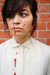 Natalie (Lydia N) Tags: portrait brick girl female blood