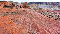 Back to the Wave (ken mccown) Tags: nature rock sandstone desert nevada erosion geomorphology valleyoffirestatepark