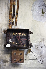 Wired (DMeadows) Tags: old metal wall switch scotland wire rust long box decay wires mounted electricity wired rusting loch switches corroded electrics arrochar corrode oxidised oxidise davidmeadows dmeadows davidameadows dameadows