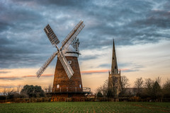 Thaxted Windmill and Church (Mark Seton) Tags: church places essex thaxted digitalcameraclub uttlesford thaxtedchurch countyofessex thaxtedwindmill